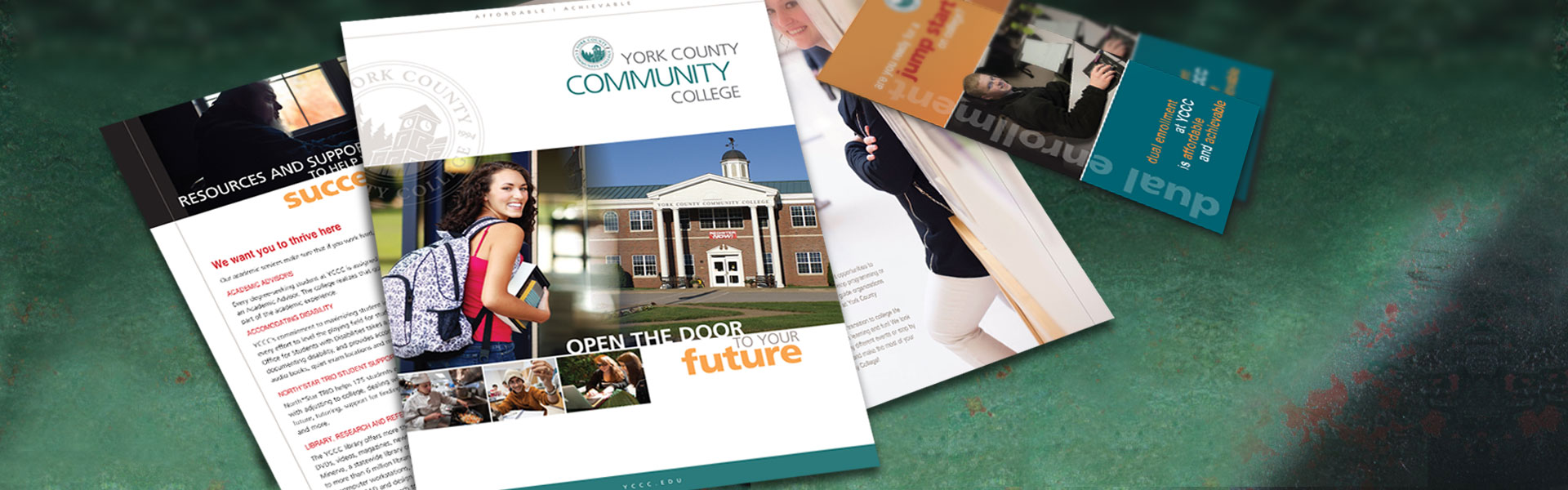 York County Community College print communications