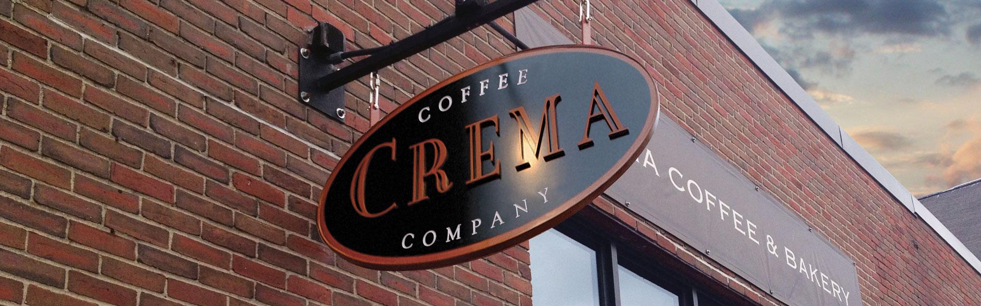 Crema Coffee Company signage