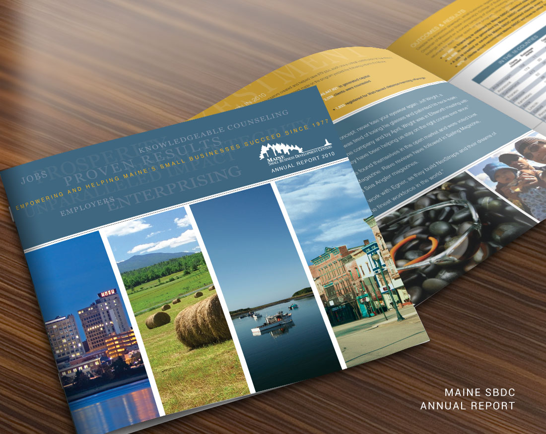 Annual report design for Maine SBDC
