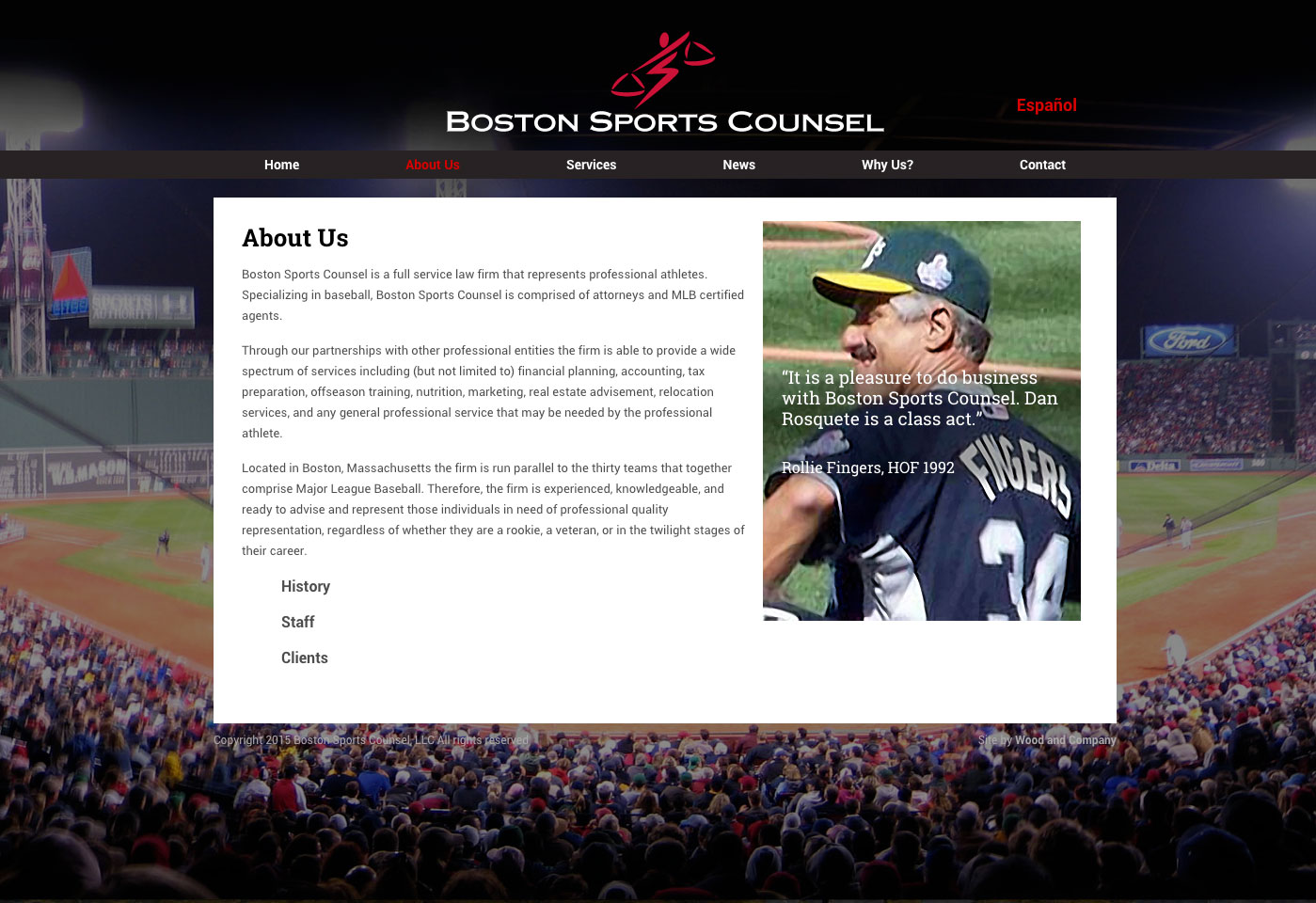 Boston Sports Counsel Website About Page