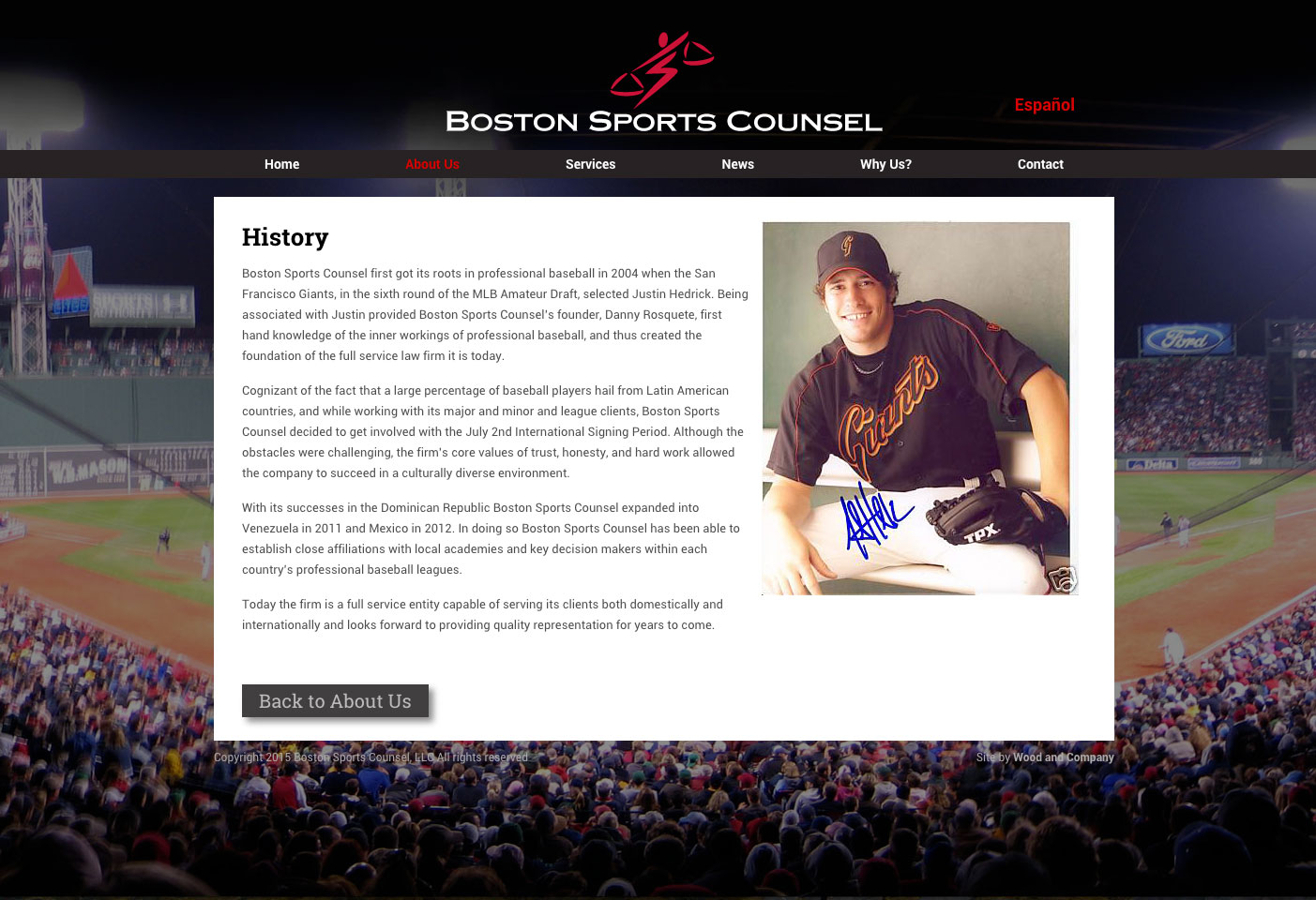 Boston Sports Counsel Website History