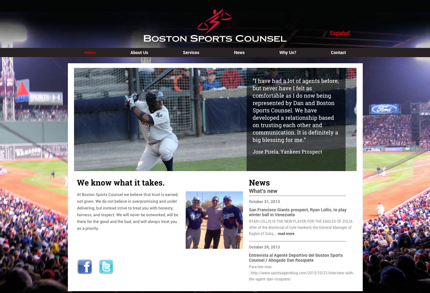 Boston Sports Council home page