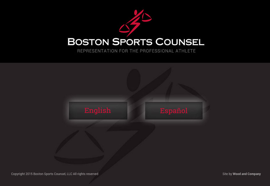 Web design for Boston Sports Counsel