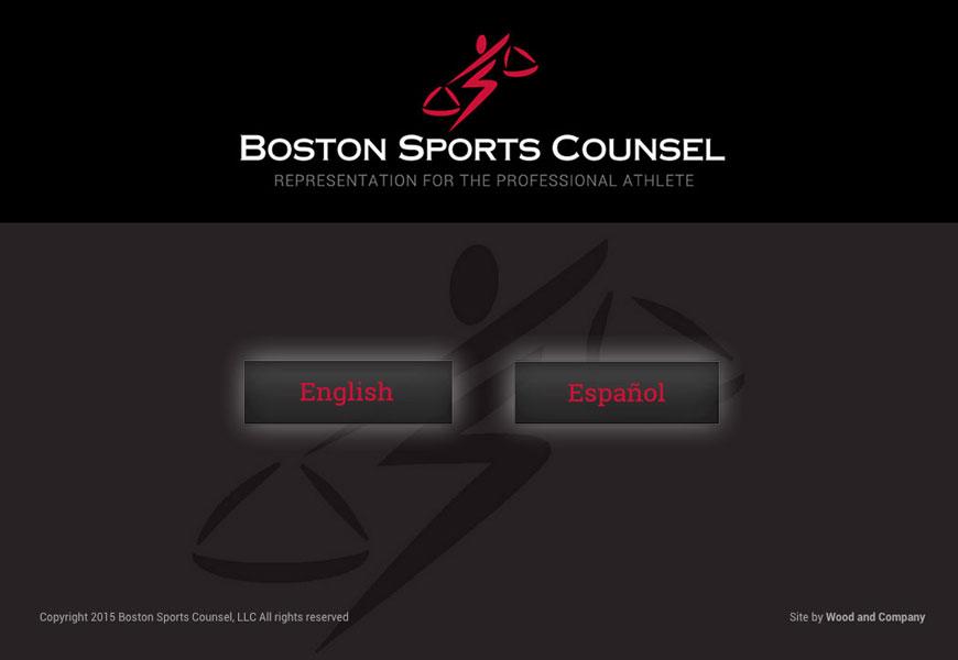 Web design for Boston Sports Counsel