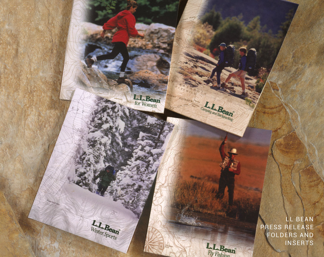 Brochure design and inserts for LL Bean
