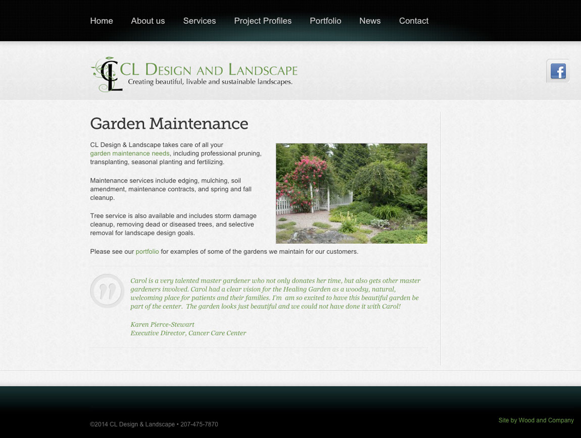 CL Design Garden Maintenance page
