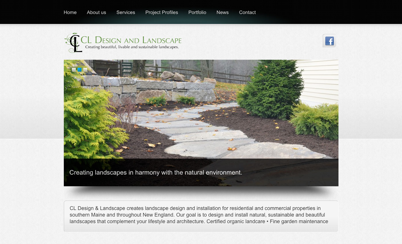 Wood and company a portland maine graphic design website for Design and landscape