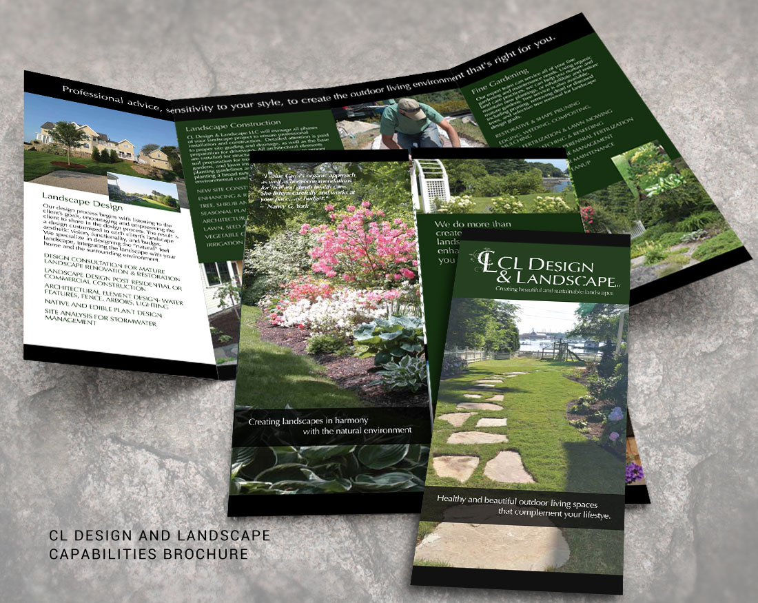 Wood and Company brochure design for CL Design & Landscape