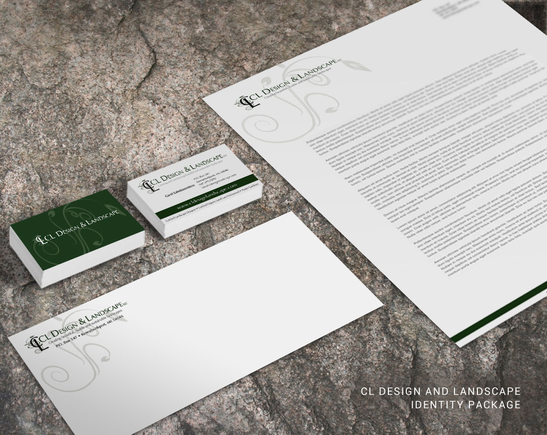 Letterhead and identity design for CL Design and Landscape