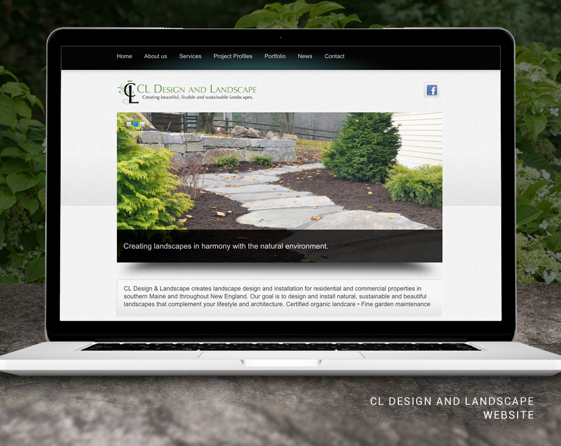 Website design for CL Design and Landscape
