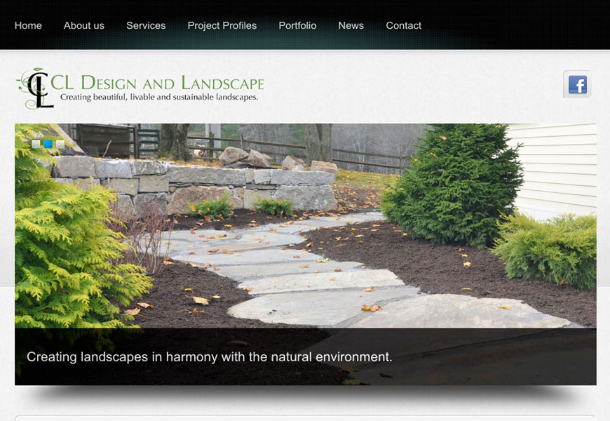 Web design for CL Design Landscape