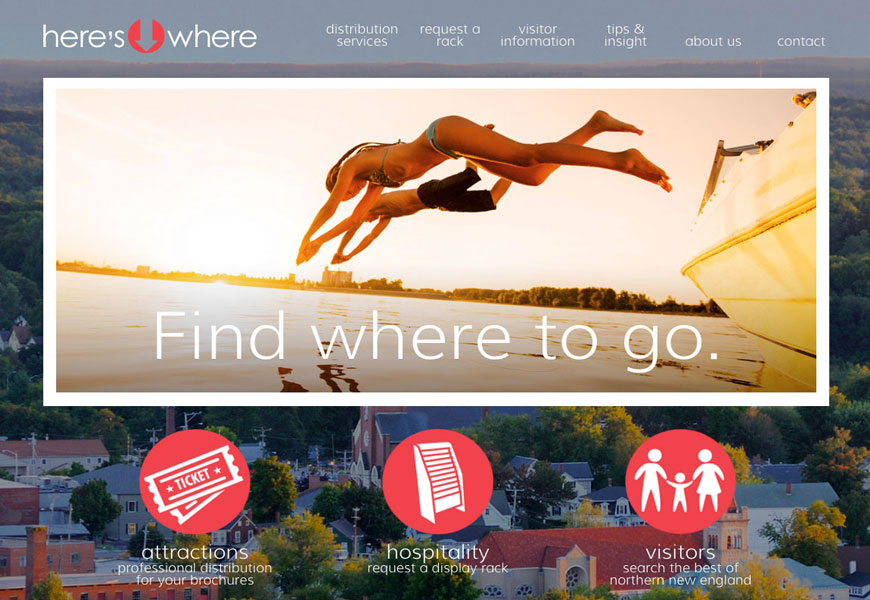 Web design for Here's Where