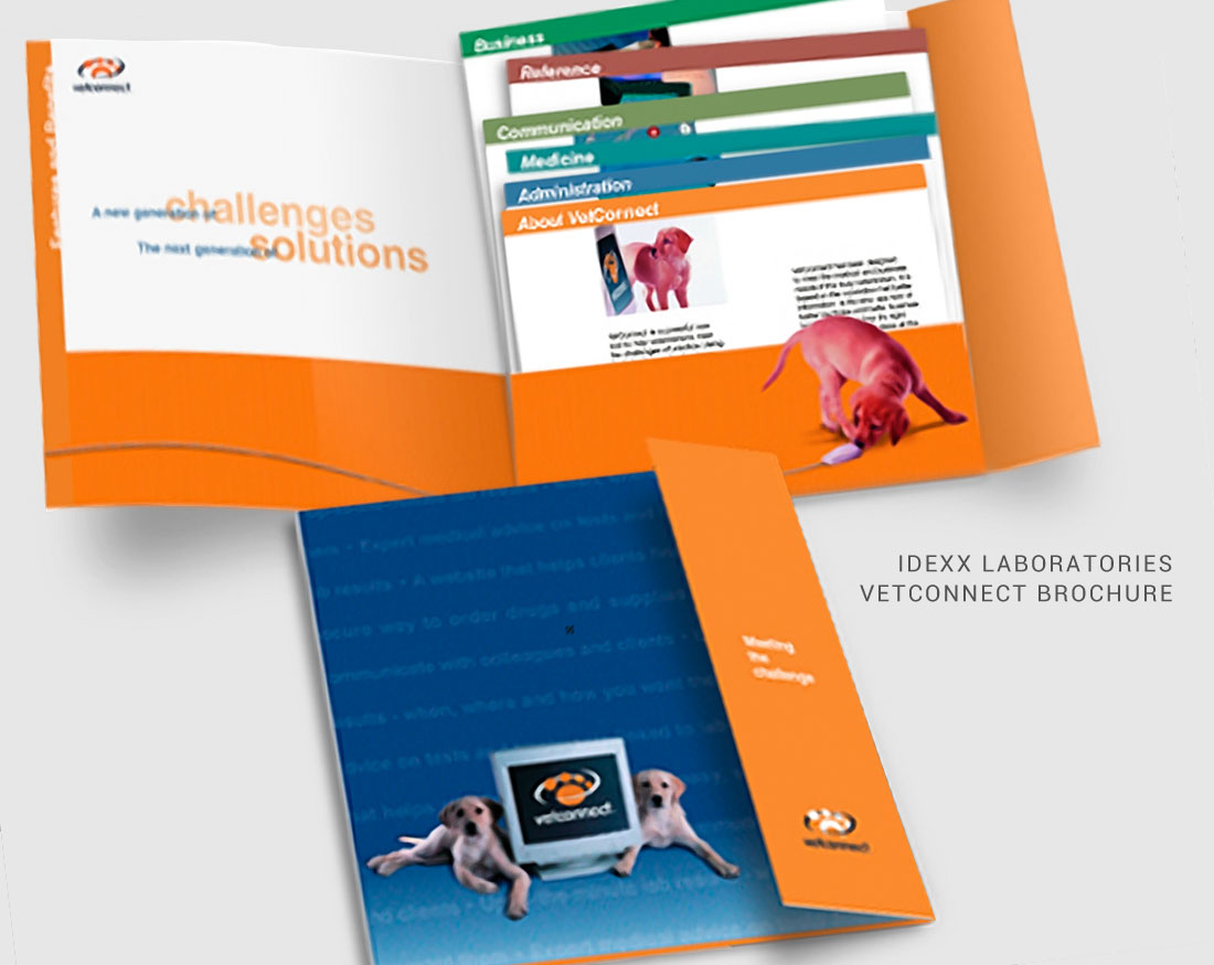 Wood and Company brochure design for IDEXX Vetconnect