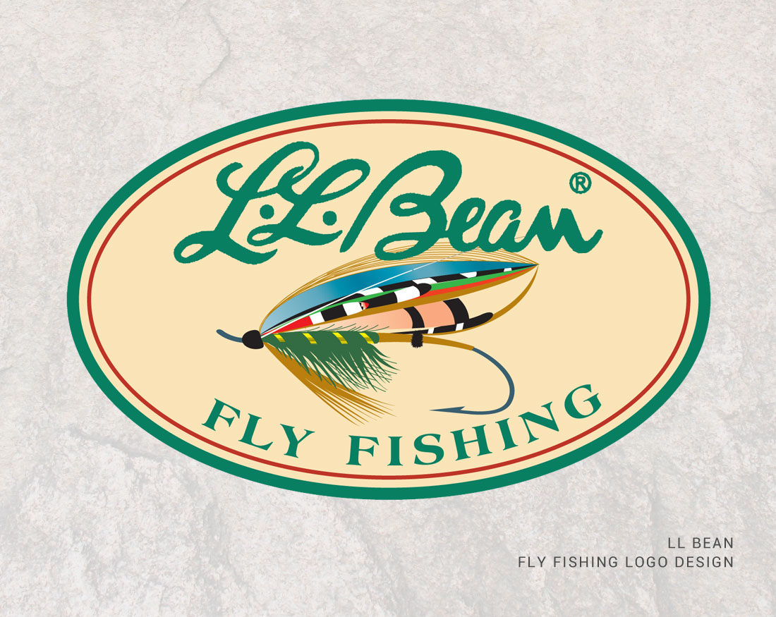 Logo design for LL Bean Fly Fishing