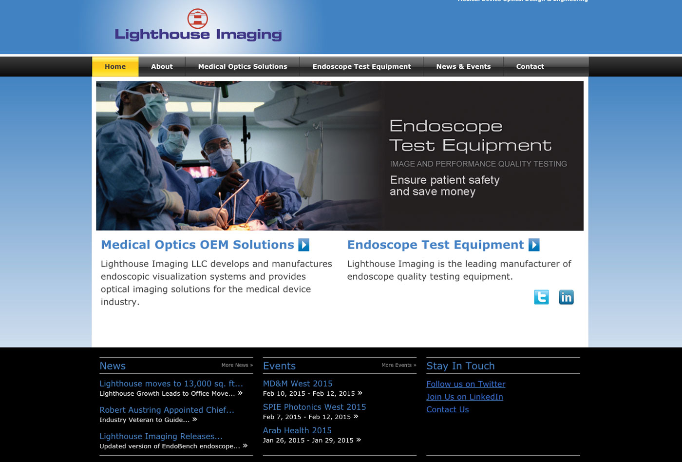 Lighthouse Home Endoscope Testing