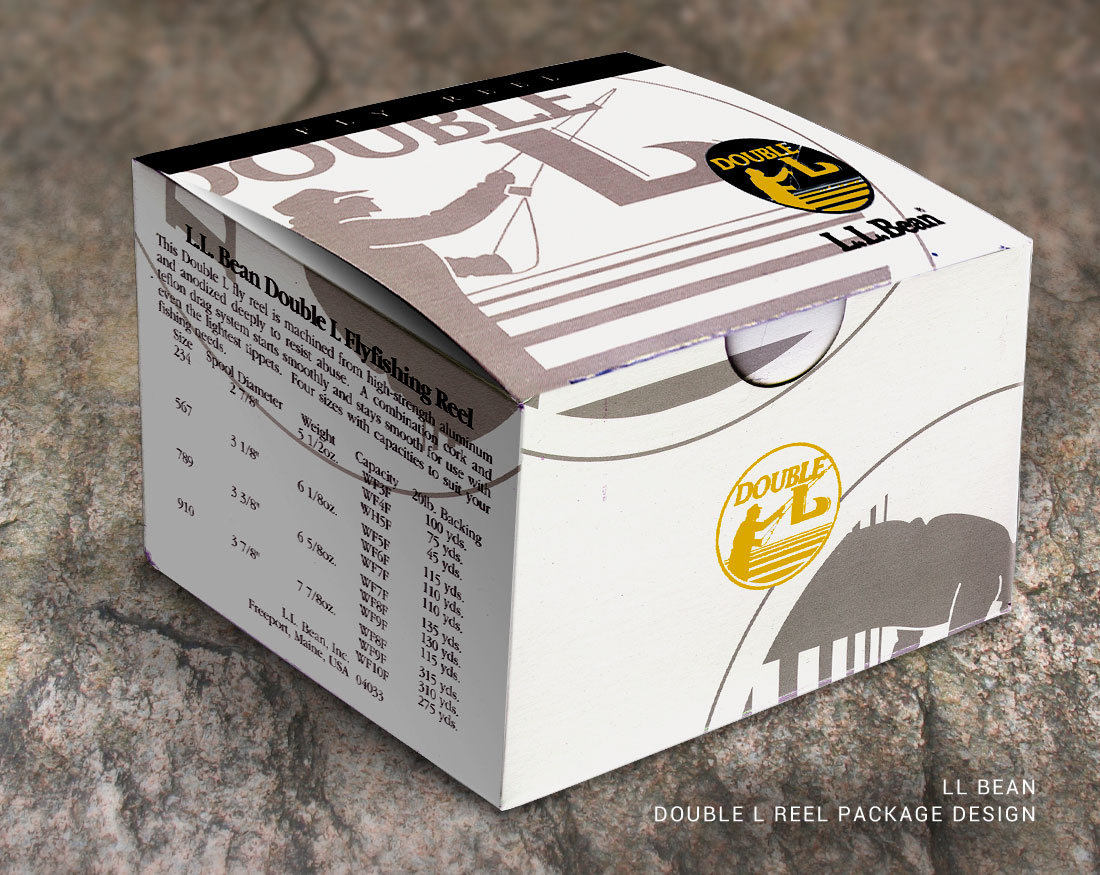 Package design for LL Bean Double L Reel