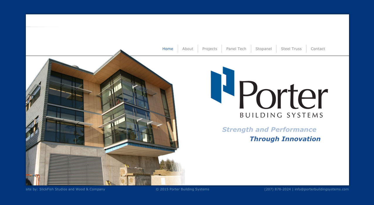 Porter Building Systems Website home page 2