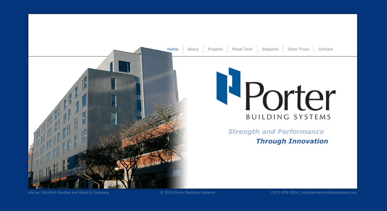 Porter Building Systems Website home page 3