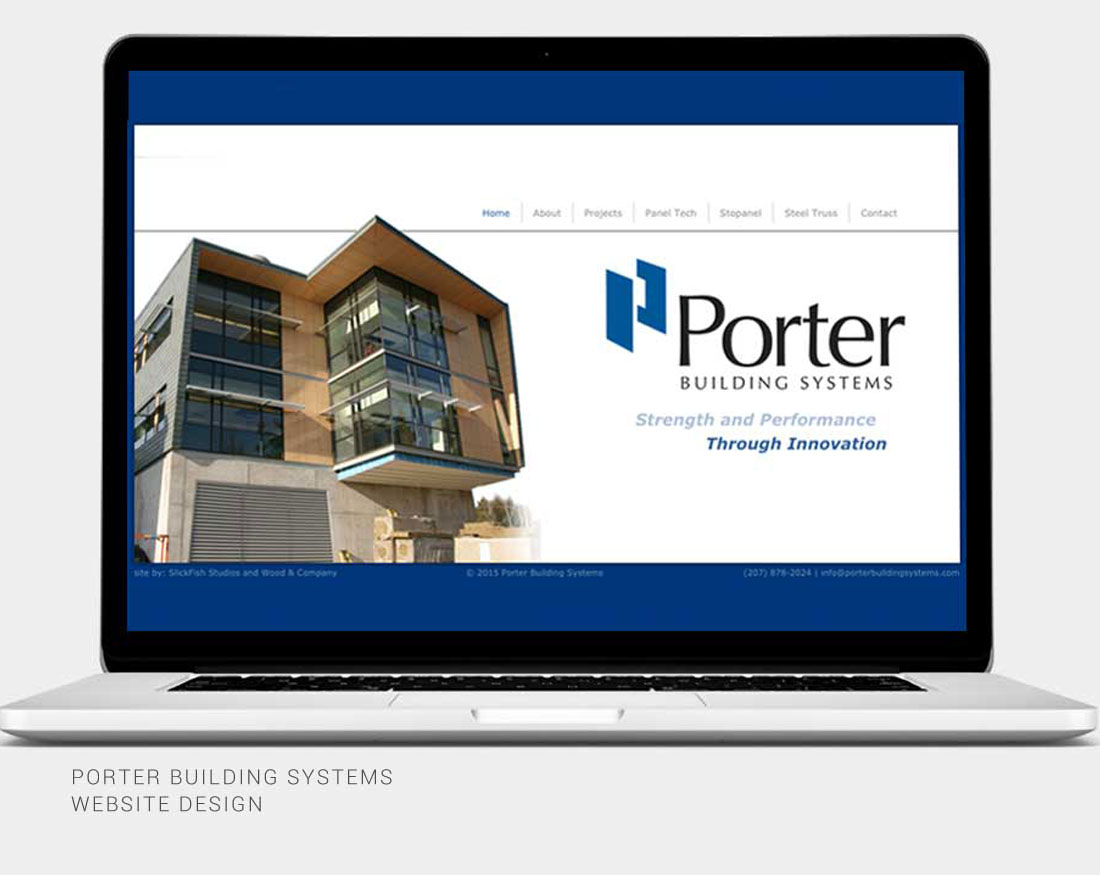 Wood and Company website design for Porter Building Systems