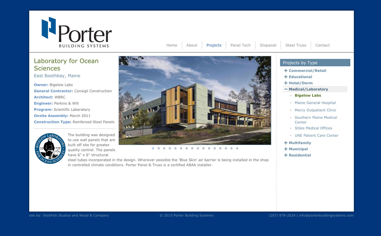 Porter Website Bigelow Labs Project