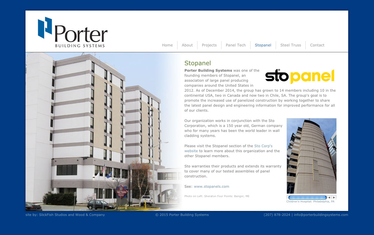 Porter Website Secondary Page