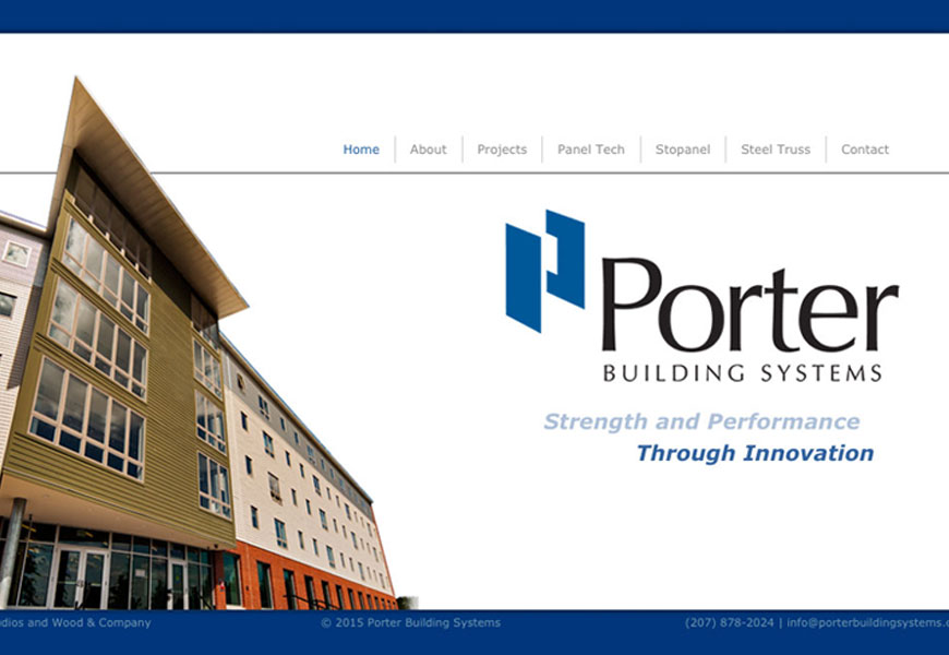 Web design for Porter Building Systems