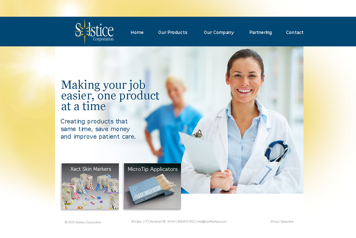 Solstice Website Corporate Home Page