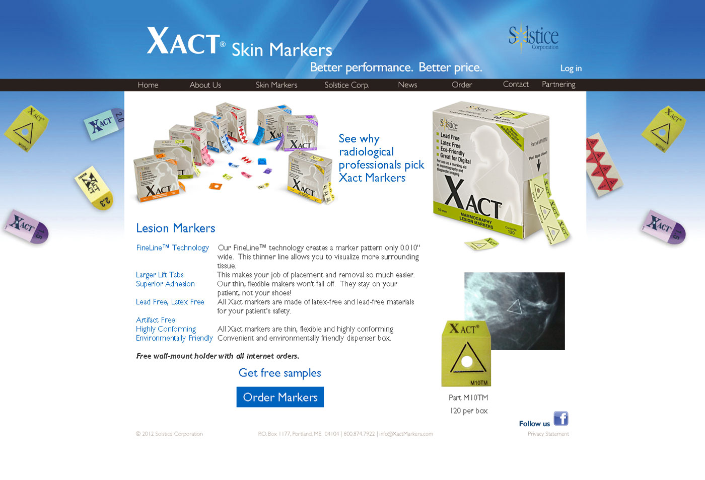Solstice Xact Marker Product Page