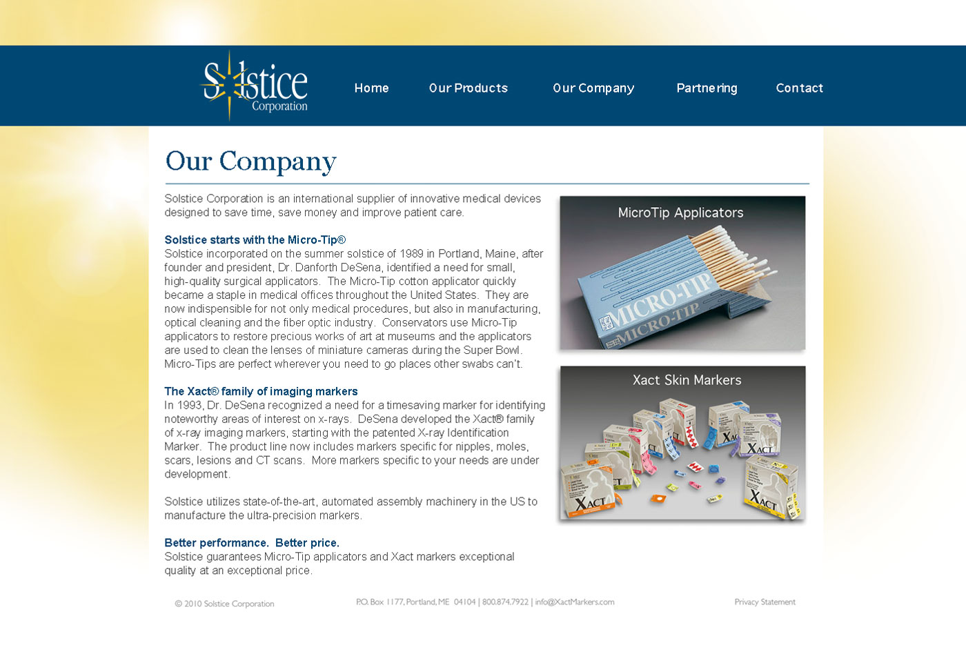 Solstice Corporate About Our Company Page