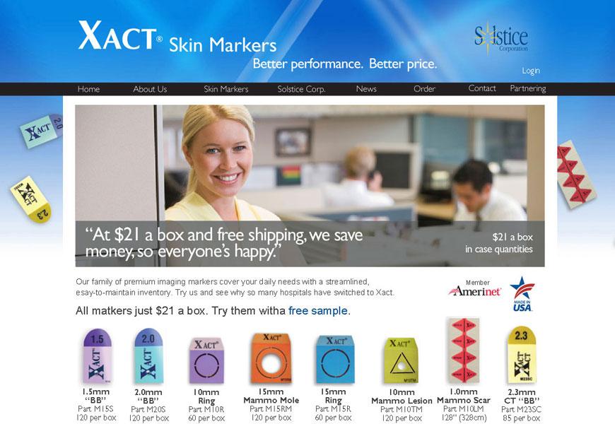 Web design for Solstice Corporation
