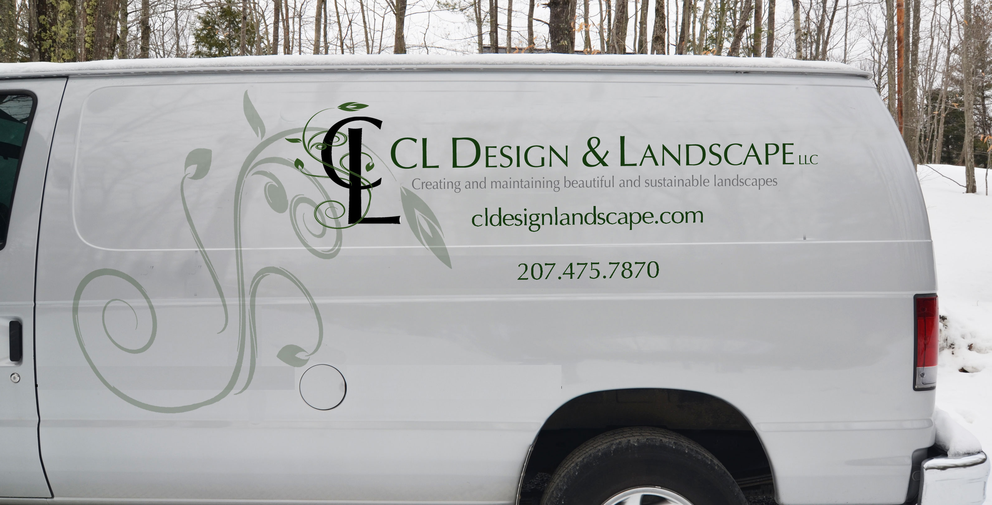 Vehicle wrap design for CL Design & Landscape