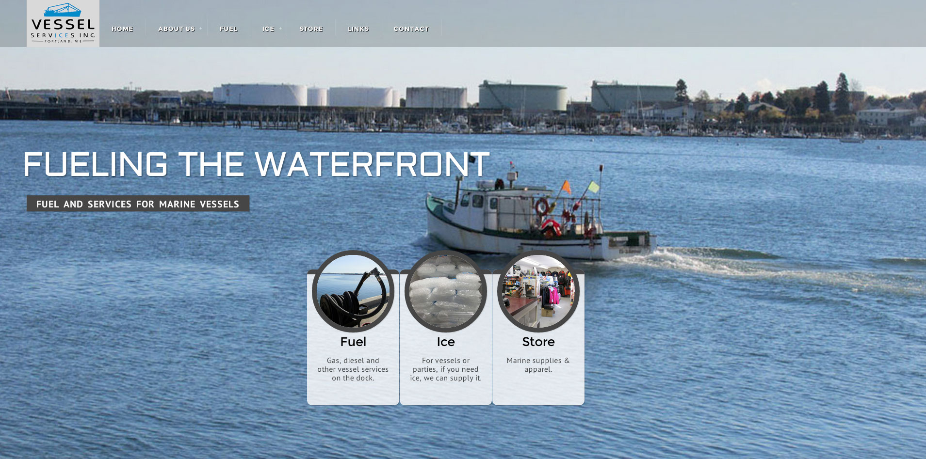 Vessel Services Website Home Page 1