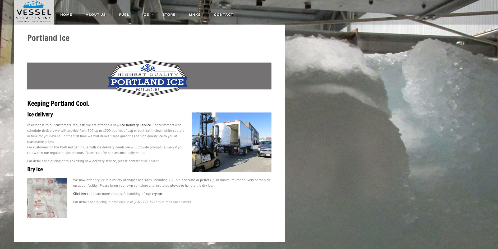 Vessel Services Website Ice Services Page