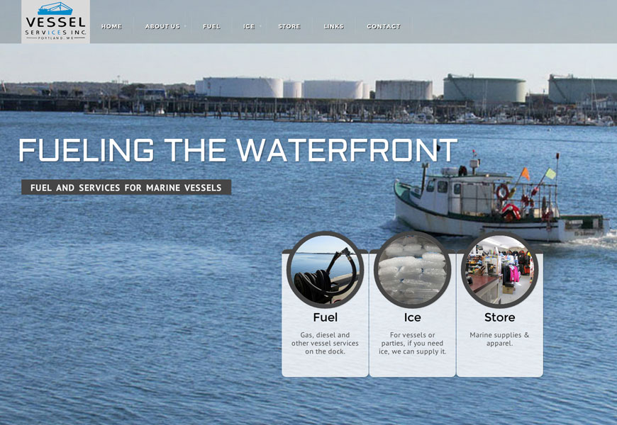 Website design for Vessel Services