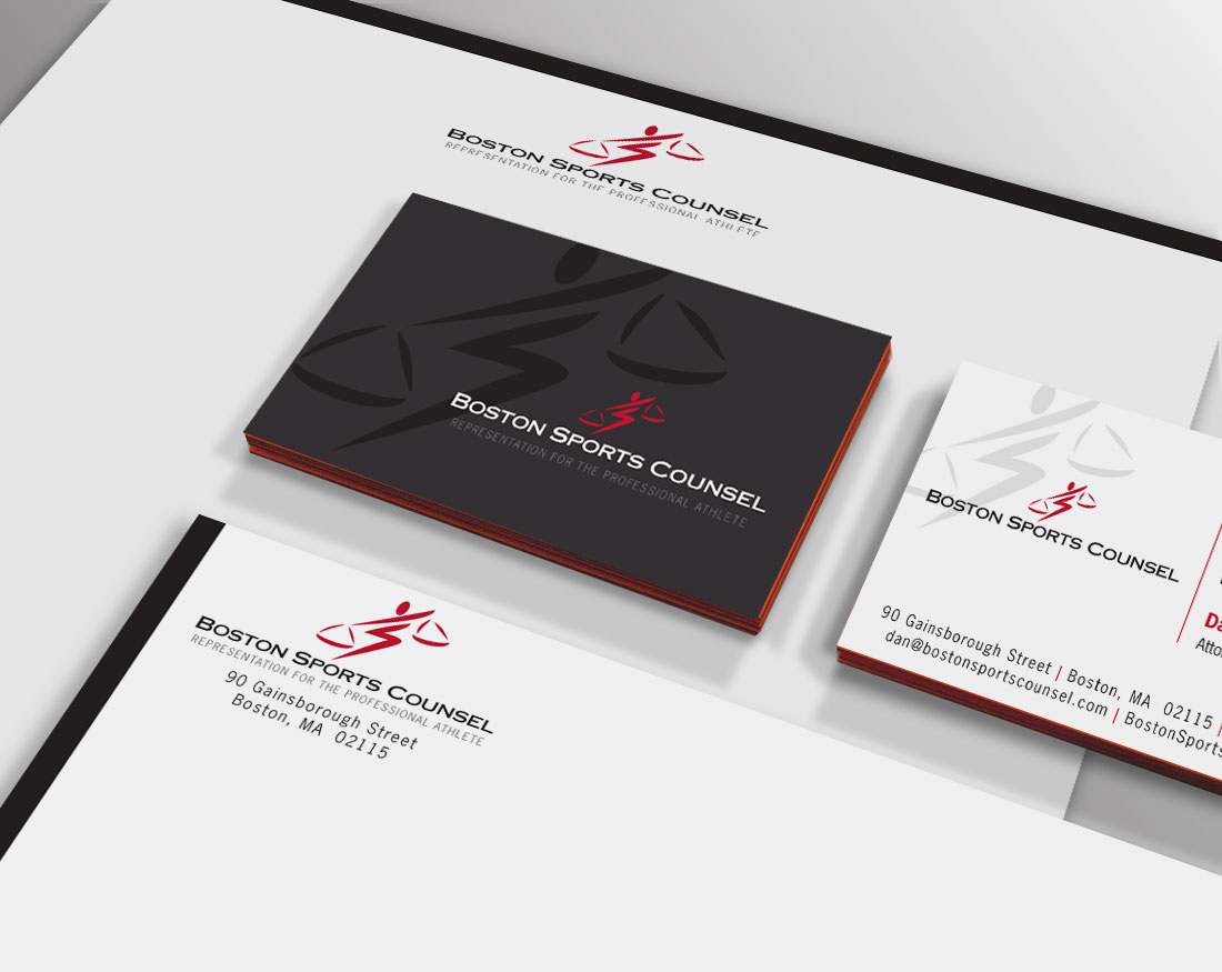 Logo and letterhead package for Boston Sports Counsel
