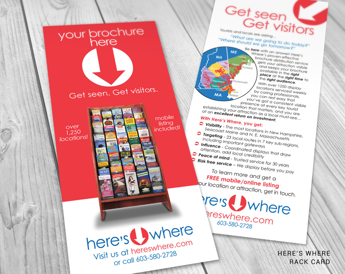 Print collateral for Here's Where