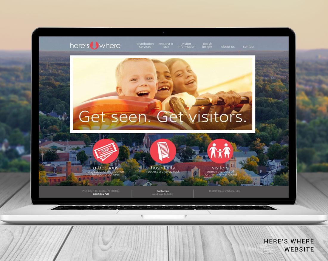 Website design for Here's Where