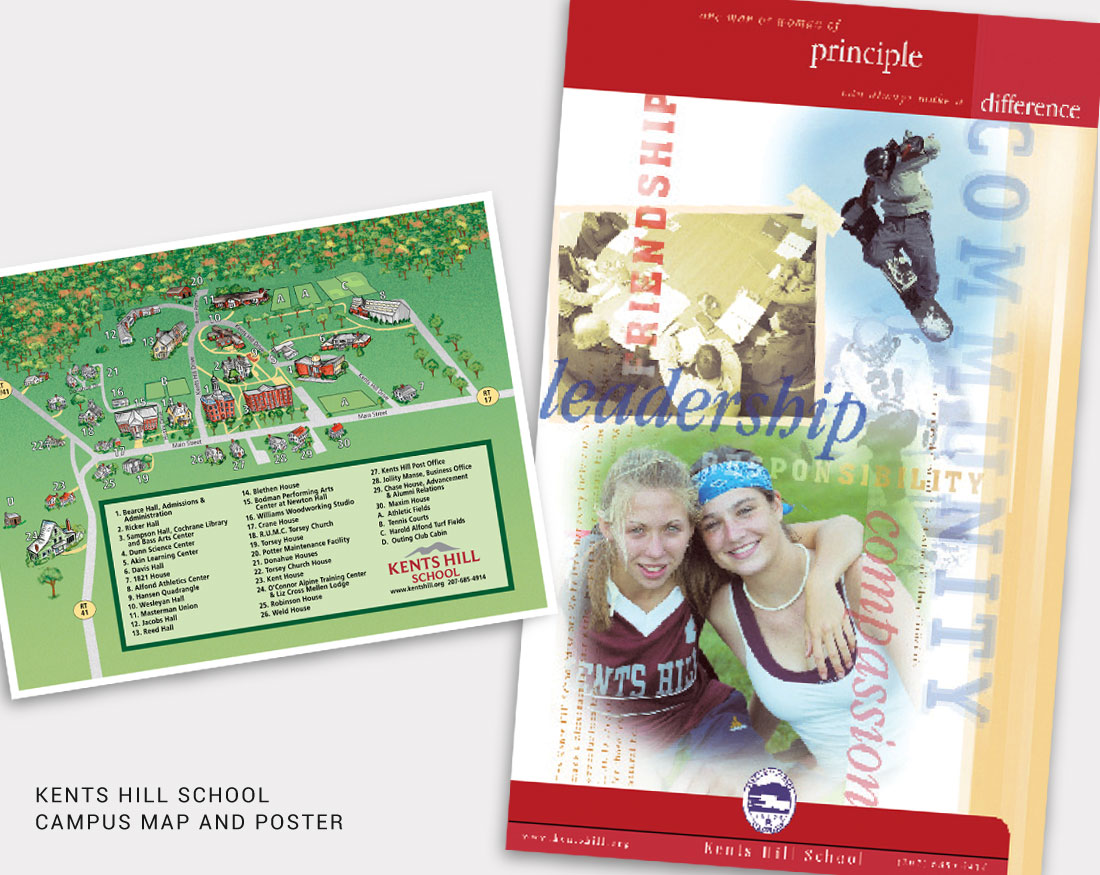 Map and Poster design for Kents Hill School