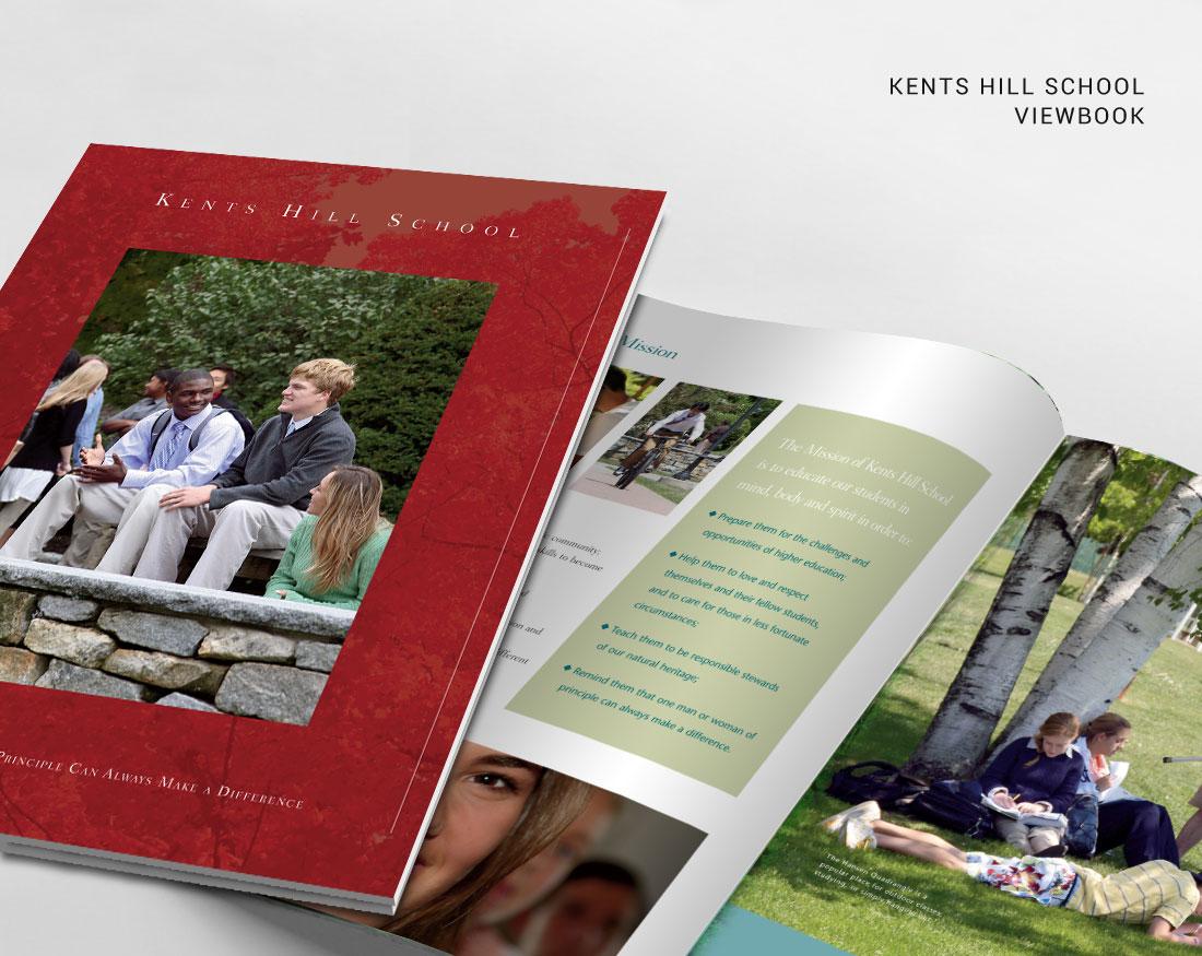 Viewbook design for Kents Hill School