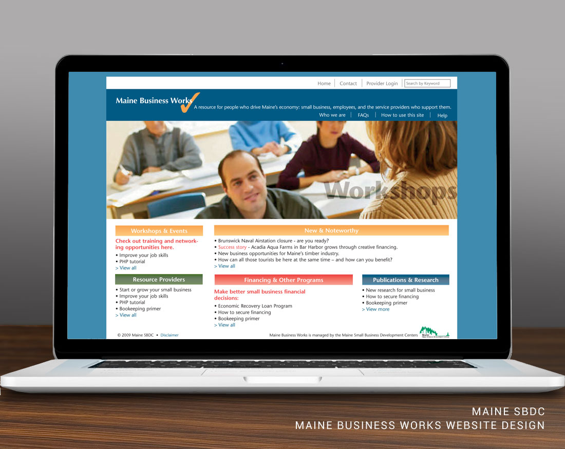 Website design for Maine Business Works