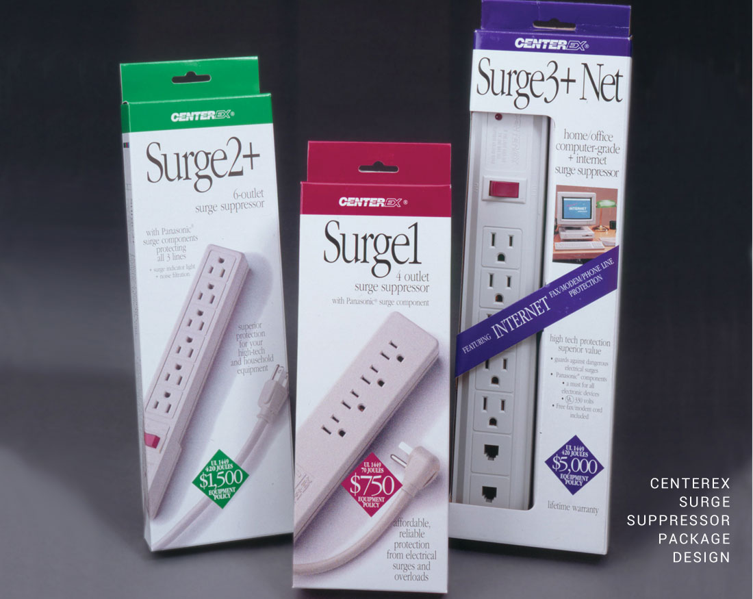 Package design for Centerex Surge Suppressor