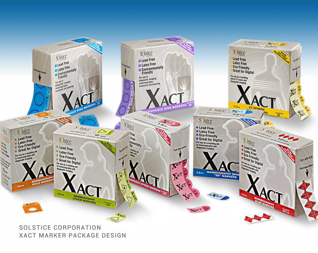 Package design for Xact Markers