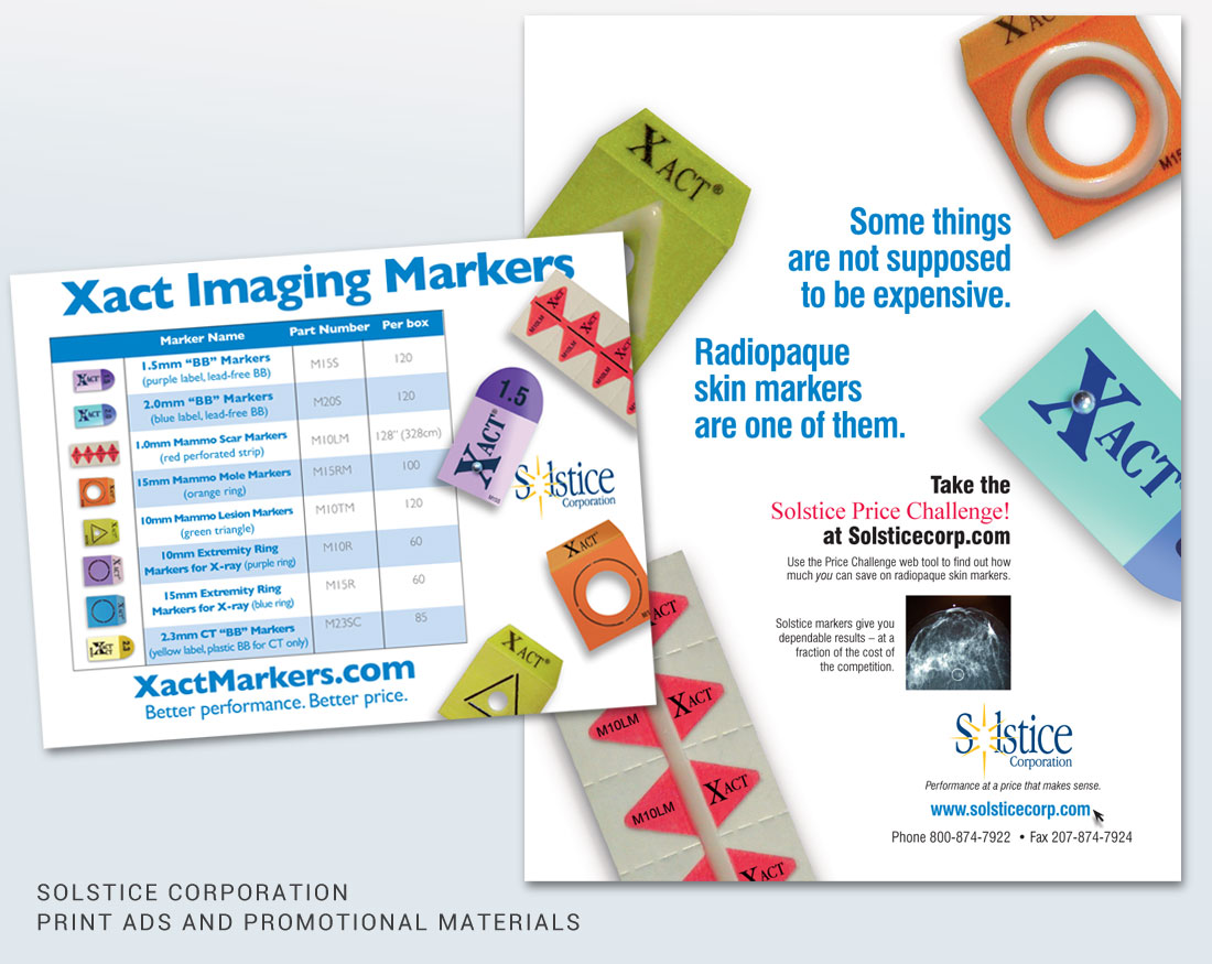 Ad design and promotional materials for Solstice Corporation