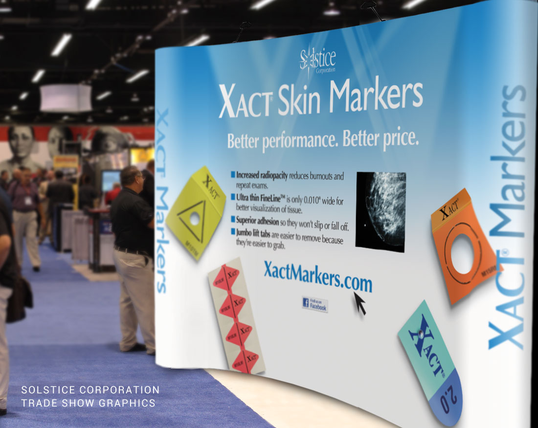 Trade show graphics design for Solstice Corporation
