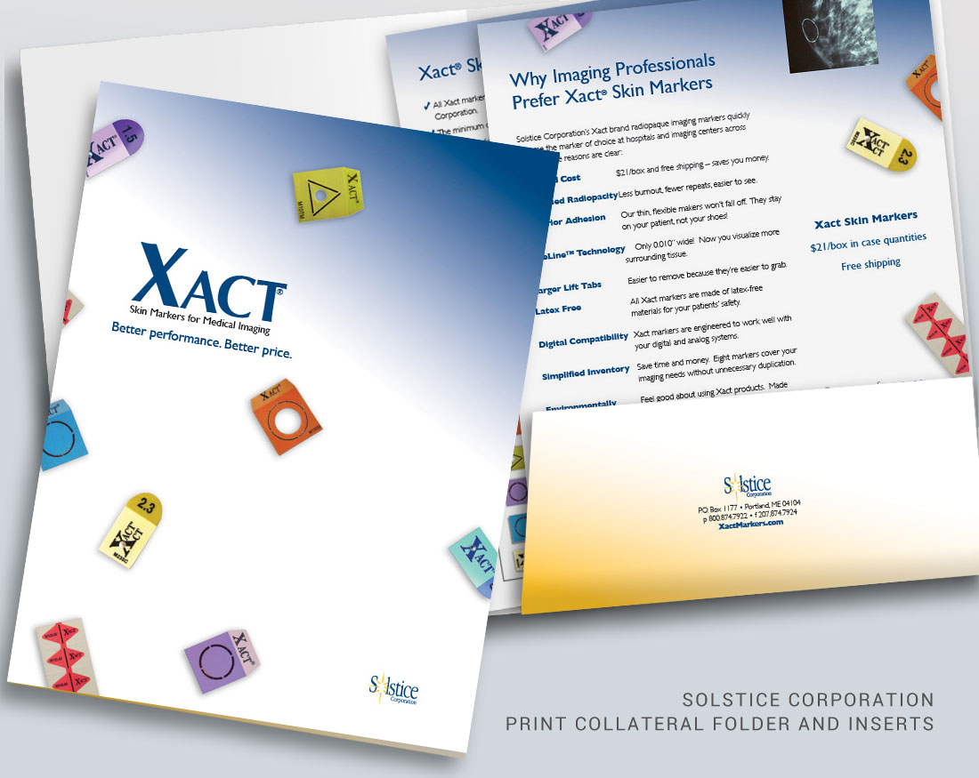 Print collateral design for Solstice Corporation