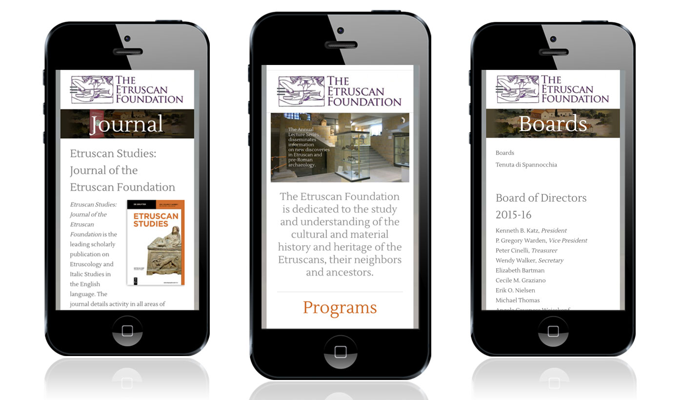 Etruscan Foundation mobile website