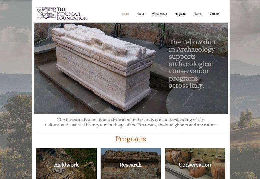 Website design for the Etruscan Foundation