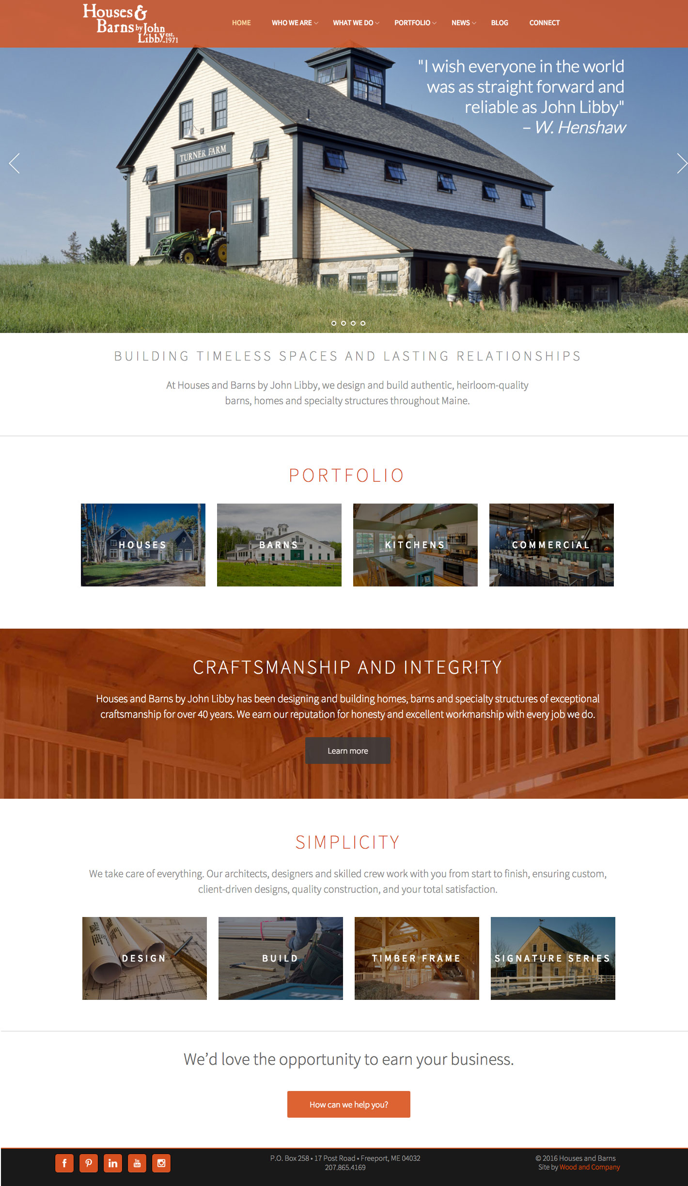 HOuses & Barns home page