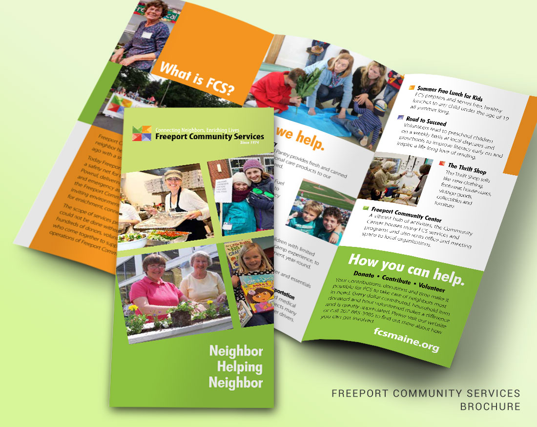 Brochure design for Freeport Community Services