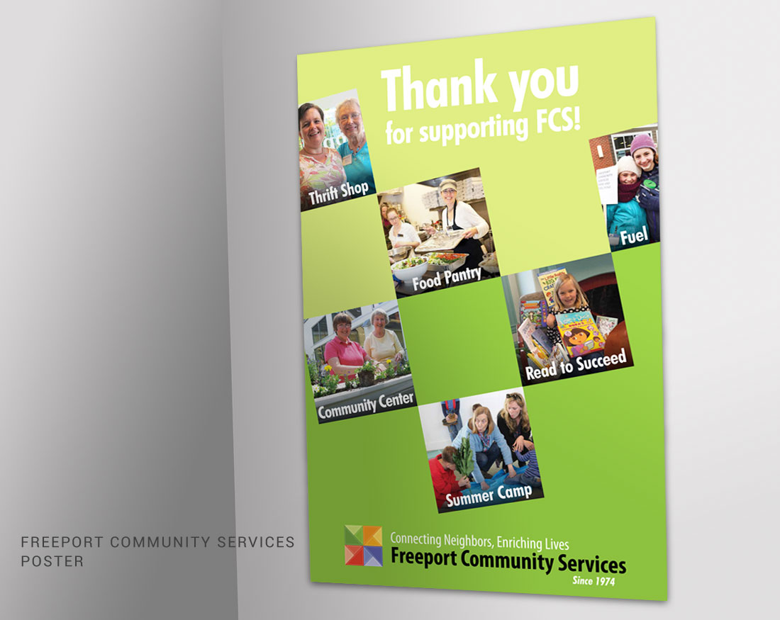 Poster design for Freeport Community Services
